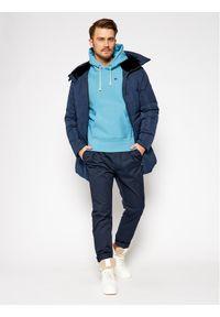 Champion Bluza C Logo 215214 Niebieski Regular Fit. Kolor: niebieski