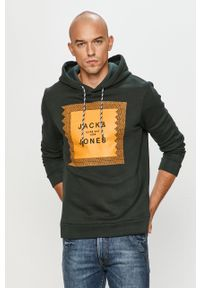 Bluza nierozpinana Jack & Jones z nadrukiem, na co dzień, z kapturem, casualowa
