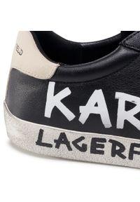 Czarne sneakersy Karl Lagerfeld na co dzień, z cholewką