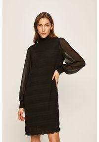 Czarna sukienka Vila mini, na co dzień, oversize