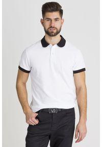 Koszulka polo Versace Jeans sportowa, w jednolite wzory, polo