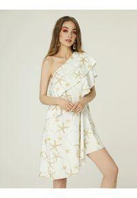 Madnezz - Sukienka Rita - wzór #madcoast. Materiał: wiskoza, elastan. Sezon: lato. Typ sukienki: asymetryczne. Długość: mini