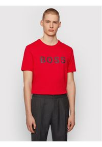 BOSS - Boss T-Shirt Tiburt 50430889 Czerwony Regular Fit. Kolor: czerwony