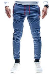 Niebieskie spodnie dresowe Recea na fitness i siłownię
