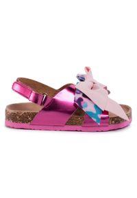 Różowe sandały Colors Of California z aplikacjami, na lato