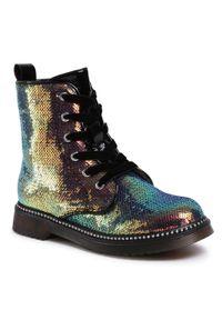 Buty zimowe Nelli Blu z aplikacjami, z cholewką