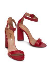 Czerwone sandały R.Polański eleganckie