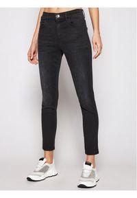 Czarne jeansy slim Marella