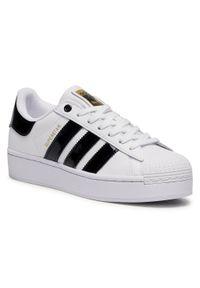 Białe buty sportowe Adidas Adidas Superstar, z cholewką, na co dzień
