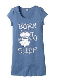 Koszula nocna bonprix niebieski - sowa