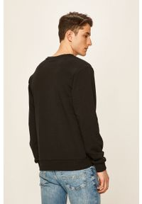 Czarna bluza nierozpinana Fila melanż, bez kaptura