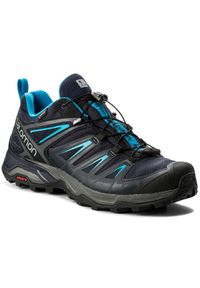 Niebieskie buty trekkingowe salomon Gore-Tex, na lato, trekkingowe