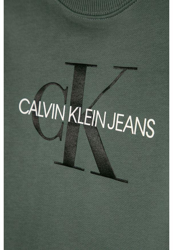 Szara bluza Calvin Klein Jeans z nadrukiem, bez kaptura
