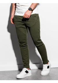 Brązowe spodnie Ombre Clothing klasyczne