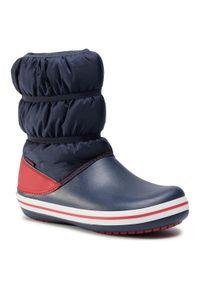 Niebieskie buty zimowe Crocs na spacer
