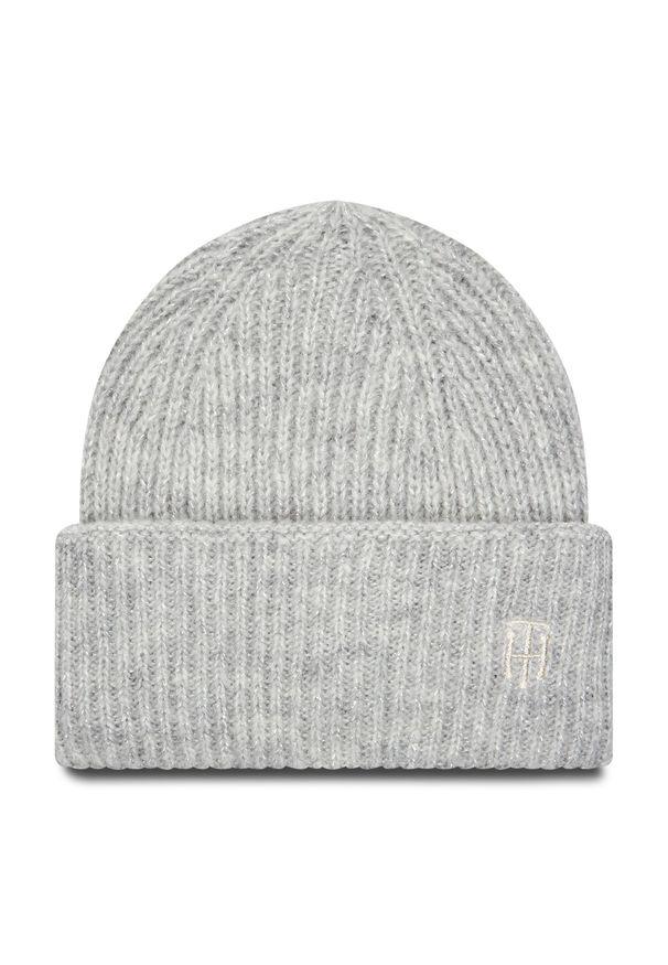 Szara czapka zimowa TOMMY HILFIGER