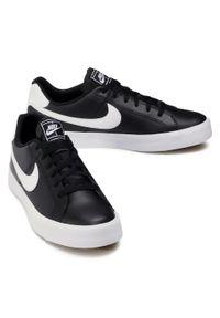 Czarne sneakersy Nike Nike Court, z cholewką
