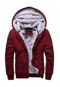 IVET - Męska bluza ROB BORDO. Okazja: na co dzień. Kolor: czerwony. Materiał: materiał. Styl: casual