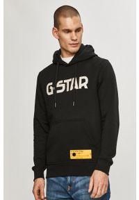 G-Star RAW - G-Star Raw - Bluza. Okazja: na co dzień. Kolor: czarny. Materiał: poliester, dzianina. Wzór: nadruk. Styl: casual