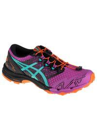 Fioletowe buty do biegania Asics z cholewką