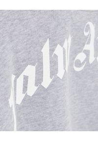 PALM ANGELS - Szara bluza w serek. Typ kołnierza: dekolt w serek. Kolor: szary. Długość: długie. Wzór: nadruk