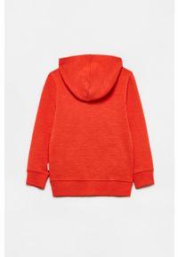 Pomarańczowa bluza rozpinana OVS casualowa, gładkie, z kapturem