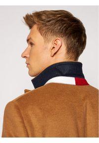 TOMMY HILFIGER - Tommy Hilfiger Tailored Płaszcz wełniany Wool Blend TT0TT08117 Brązowy Regular Fit. Kolor: brązowy. Materiał: wełna #5