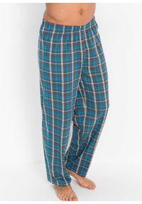 Piżama bonprix turkusowy w kratę. Kolor: szary. Długość: długie #3