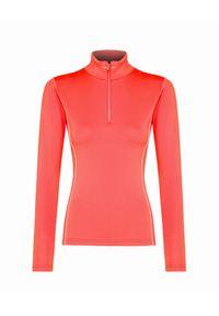 Pomarańczowy sweter Descente na zimę, z golfem