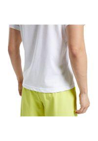 Koszulka sportowa męska Reebok Specialized Training FU1807. Materiał: materiał, dzianina, skóra, bawełna. Długość rękawa: krótki rękaw. Długość: krótkie. Wzór: napisy. Sport: fitness