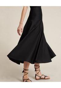 Luisa Spagnoli - LUISA SPAGNOLI - Bawełniana spódnica Tamara. Kolor: czarny. Materiał: bawełna. Styl: elegancki