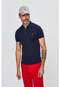 Polo Ralph Lauren - Polo. Typ kołnierza: polo. Kolor: niebieski. Materiał: dzianina. Długość: krótkie