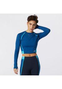 Koszulka sportowa New Balance na fitness i siłownię, z długim rękawem