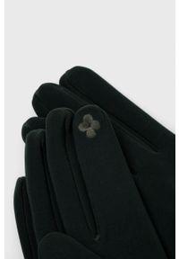 Aldo - Rękawiczki. Kolor: zielony. Materiał: tkanina. Wzór: gładki