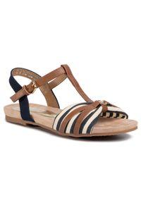 Brązowe sandały Tom Tailor casualowe, z aplikacjami