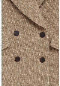 Brązowy płaszcz mango bez kaptura, klasyczny
