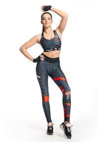 FJ! - Stanik Sportowy Leopard. Materiał: żakard, dzianina, elastan, guma, poliester. Sport: fitness, bieganie