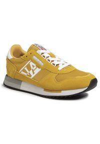 Żółte sneakersy Napapijri z cholewką