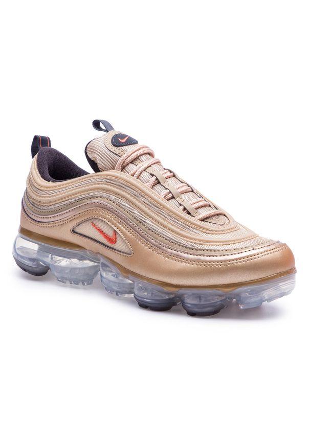 Złote sneakersy Nike Nike Air Max, z cholewką