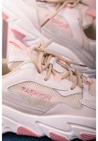 Casu - Beżowe buty sportowe sneakersy sznurowane casu 204/33p. Kolor: beżowy, różowy, wielokolorowy