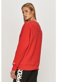 Czerwona bluza Prosto. długa, bez kaptura