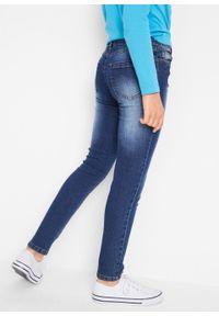 """Dżinsy dziewczęce ze stretchem SKINNY bonprix niebieski """"stone"""". Kolor: niebieski"""