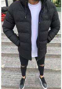 Czarny płaszcz IVET z kapturem, na zimę