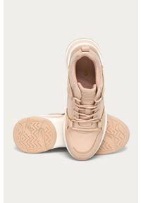 Różowe buty sportowe Aldo na średnim obcasie, na sznurówki, na obcasie