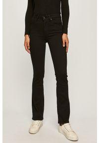 Czarne jeansy bootcut Levi's® biznesowe, z podwyższonym stanem, na spotkanie biznesowe