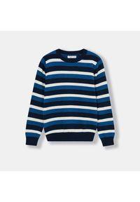 Niebieski sweter Sinsay w paski