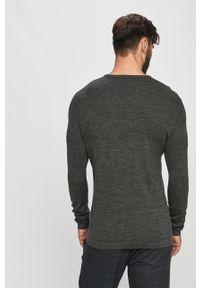 Szary sweter Tailored & Originals z długim rękawem, casualowy
