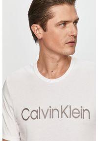 Biały t-shirt Calvin Klein Underwear z aplikacjami, na co dzień