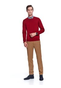 Beżowe spodnie TOP SECRET eleganckie, na zimę