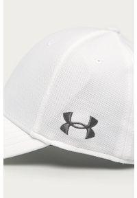 Biała czapka z daszkiem Under Armour gładkie